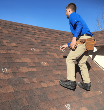 Roof Inspector Finds Hail Damage