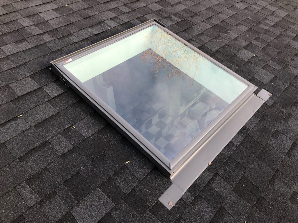 skylight installed to new roof