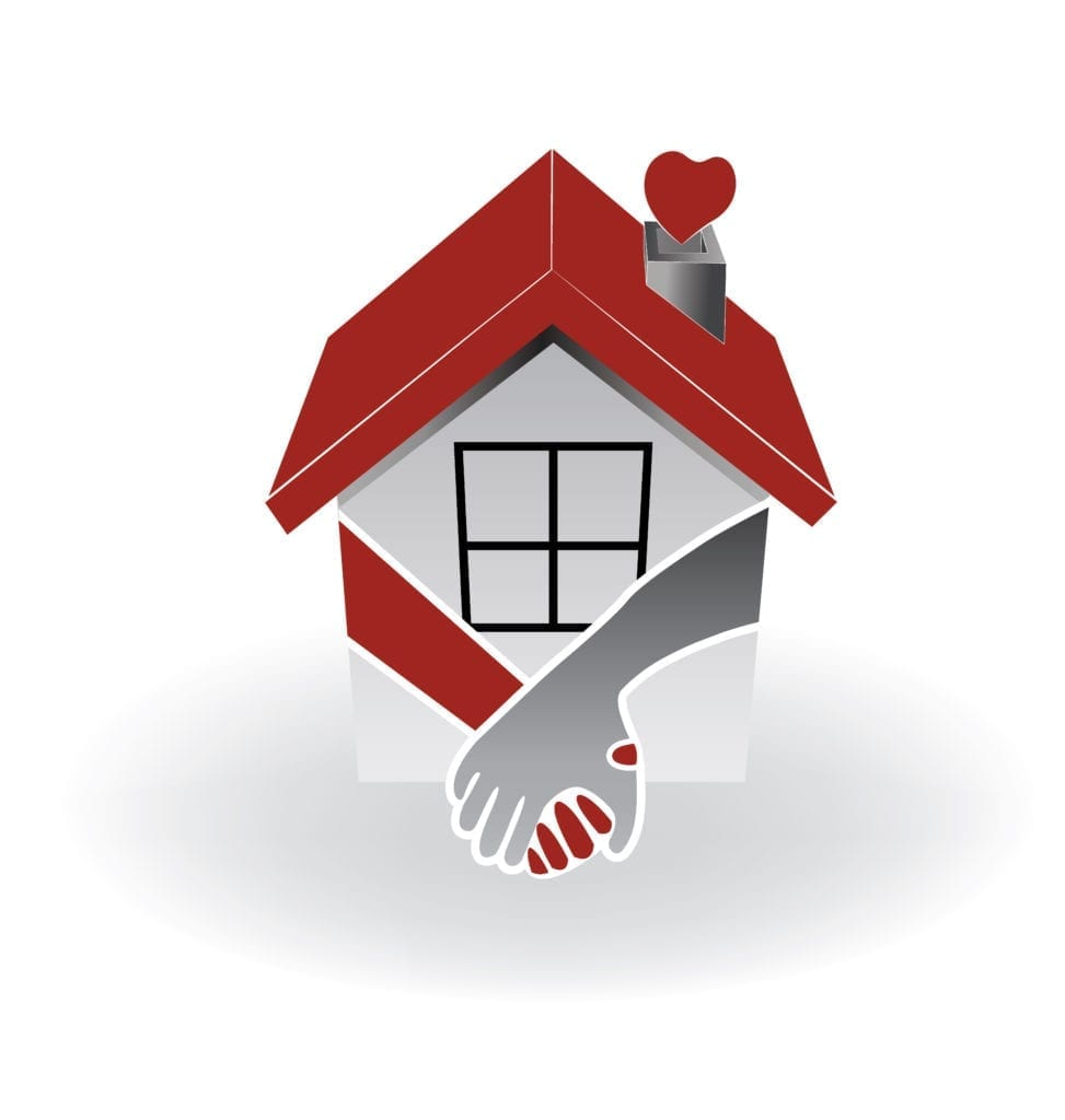 Image of house with a heart coming out of the chimney