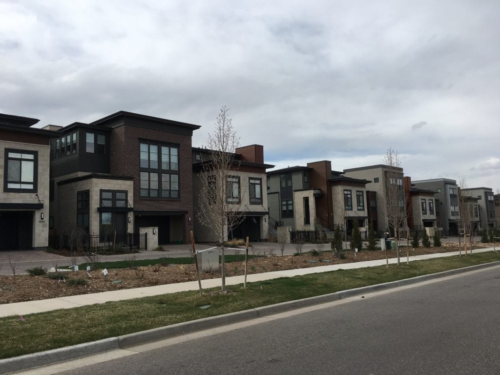 Image of new construction in ridge gate lone tree CO
