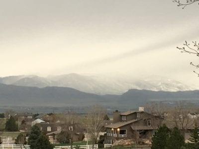 Snow on the front range mountains