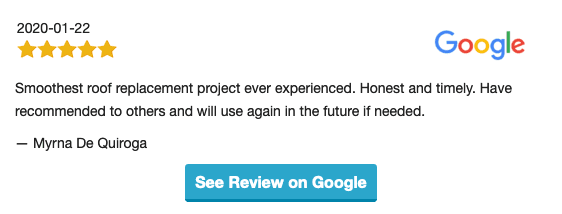 Google review for new Roof plus