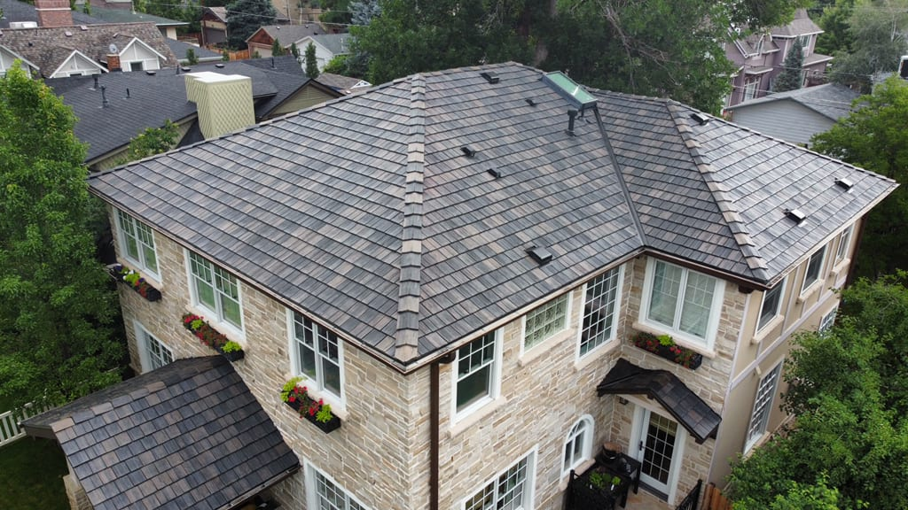 Davinci roofing installed by New Roof Plus